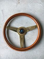 Gold Plated Nardi Classic Woodgrain Steering Wheel