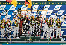 8 SIGNED Audi Le Mans 2012 Victory Podium Line Up , Superb