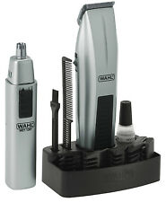 WAHL 5537-420 Portable Mustache & Beard Battery 12 Pcs Travel Trimmer