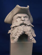 "1:6 CUSTOM RESIN HEAD-SCULPT ""BLACKBEARD THE PIRATE"" WITH TRICORN (3-PIECE KIT)"