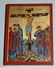 Ikone Kreuzigung Jesus crucifixion icon icone crocifissione икона icono Stavrosi