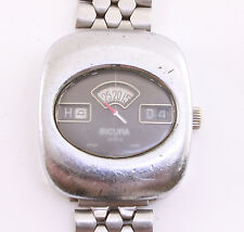 Sicura Vintage Jump (jumping) Hour digital Swiss made mechanical wrist watch