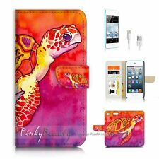 iPod Touch 6 iTouch 6 Flip Wallet Case Cover P3374 Aztec Turtle