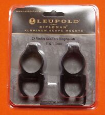 "Leupold 3/8"" Dovetail Scope Rings 1"" Dia .22 Rimfire See Thru Ring Mounts 57327"