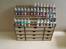 Paint Stand 52 bottle rack storage draws warpaint  Vallejo warhammer 40k wargame