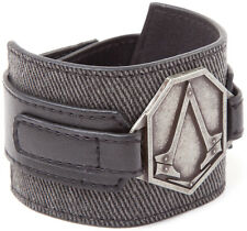 Assassin's Creed Syndicate Grey Wristband with Metal Patch Gaming Merchandise