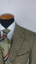 Rover Lakes Mens Blazer size 38R Wool Glen Plaid gr 48 Wool Elbow Patches Tweed