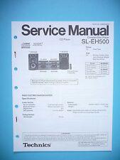 Service Manual-Istruzioni per Technics sl-eh500, ORIGINALE