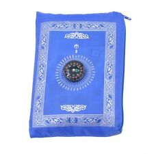 NEW ISLAMIC TRAVEL PRAYER RUG WITH POUCH PORTABLE WATERPROOF WITH KIBLA FINDER
