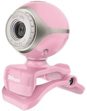 BARGAIN! NEW TRUST EXIS PINK WEBCAM, BUILT-IN MIC, JUST PLUG & GO, SALE NOW ON!