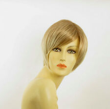 Perruque femme courte blond clair cuivré méché blond clair CECILIA 27t613