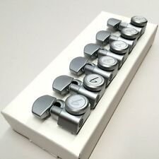 Fender Locking Die-Cast Tuners Brushed Chrome w/ Removable Caps & Bushings
