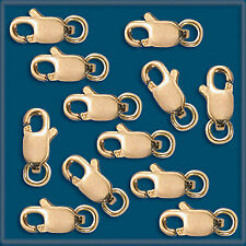 30pcs 14K GOLD FILLED LOBSTER CLAW 8 mm CLASPS