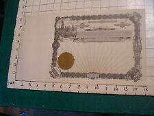 Original Vintage Blank Stock Certificate: Oil Derricks Vignette # 59 1/2