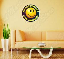 """Smiley Face Emoticon Perfect Awesome  Wall Sticker Room Interior Decor 22""""X22"""""""