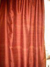 POTTERY BARN Henna Red Rust DOUBLE-WIDTH 100% DUPIONI SILK Drape Panels 104 X 84