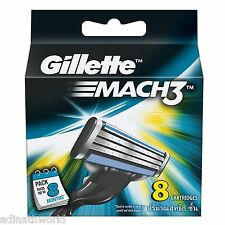 Gillette Mach 3 Mach3 | Pack Of 8 Cartridges Shaving Blades For Razor | Genuine