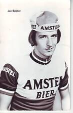 CYCLISME carte cycliste JAN SPIJKER équipe AMSTEL BIER 1976