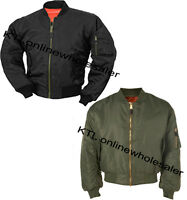 MA1 FLIGHT BOMBER ARMY COMBAT MILITARY US PILOT SKIN MOD BIKERS AIRFORCE JACKET