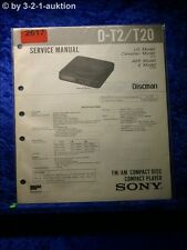 Sony Service Manual D T2 / T20 CD Player  (#2617)