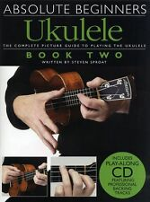 Absolute Beginners Ukulele Learn to Play Easy Lesson Uke Music Book 2 & CD