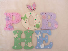 "3"" Girls Decorated Wooden Capital Letters Door/Wall sign"