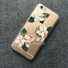 Pineapple Cactus Floral Transparent TPU Case Cover Skin for iPhone 5 6 Plus