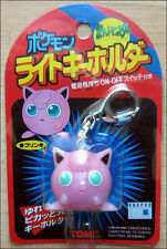 Pokemon Jigglypuff Purin Light Up Keychain Key Chain Toy Figure by Tomy RARE!!!