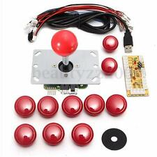 DIY Arcade USB Encoder Kits Replace China Sanwa Joystick & 10 China Button to PC