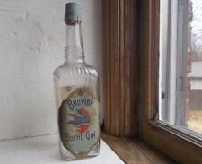 BOUVIER BUCHU GIN LOUISVILLE EMB WITH ORIGINAL LABELS & EMB LEAD NECK SEAL 1910
