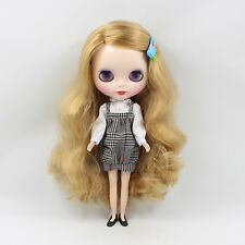 """12"""" Neo Blythe Doll Golden Hair Factory Nude Doll from Factory JSW44004"""