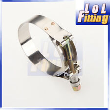 """2.25"""" inch Turbo Pipe Hose Coupler T-bolt Clamp Stainless Steel 60/68mm"""