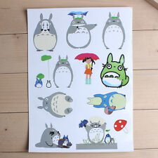 Cartoon Totoro Sticker Skateboard Sticker Graffiti Laptop Luggage Car Decal#