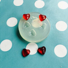 SILICONE HEART CABOCHON- 5mm Small  Resin Earrings Making Mold Jewelry Shape