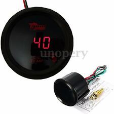 52mm 2'' Car Digital Red LED Oil Temperature Temp Meter Gauge Universal W/ Kits