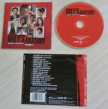 CD (NO BOX SANS BOITIER) BOF GREY'S ANATOMY /VOL.2  15 TITRES 2006