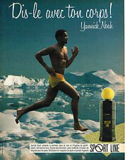 PUBLICITE ADVERTISING 015  1985  SPORT TONIC soins homme gel douche YANNICK NOAH