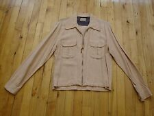 1950's FLECK GABARDINE SPORTSWEAR JACKET by NATIONAL SHIRT SHOPS ROCKABILLY