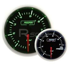 Prosport 52mm Super Smoked Green / White Oil Pressure BAR Gauge