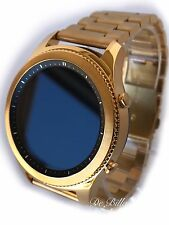 24K GOLD Plated Samsung Gear S3 Classic  Gold Link Band Smart Watch CUSTOM