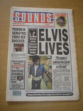 SOUNDS 1990 AUGUST 18 ELVIS POISON THE FARM HAPPY MONDAYS KLF CHARLATANS
