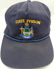MAINE STATE PRISON BLUE ADJUSABLE BACK BALL CAP ONE SIZE ADULT