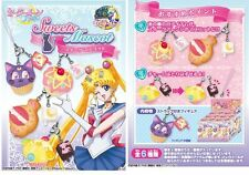 SAILOR MOON CRYSTAL SWEET DESSERTS MASCOT CHARMS SET 6 PZ - RE-MENT (PLUTO/LUNA)