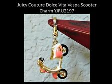 JUICY COUTURE Gold Plated Pink and Ivory Dolce Vita Vespa Scooter Charm YJRU2197