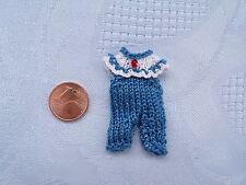 Miniaturen Baby Höschen Modeladen Kinderzimmer 1:12 rauchblau