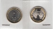 SWITZERLAND BI-METALLIC 10 FRANCS COIN 2012 COW FIGHTING IN VALAIS UNCIRCULATED