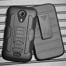 For BLU STUDIO 5.0 D530A Rugged Hybrid Armor Hard Case Stand Cover Clip Holster