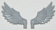LEGO LOT OF 2 NEW LIGHT BLUISH GREY CHIMA FEATHERED WINGS PIECES