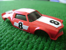 New Autoworld 1971 Red Racing Camaro HO Xtraction Slot Car Body Fits Aurora AFX