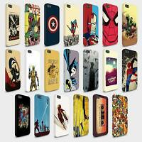 Phone Hard Cases Covers Marvel Characters Comic for iPhone 4 5 6 SE models
